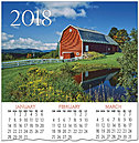 Red Barn Calendar Card C7104U-AA