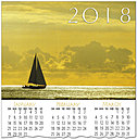 Sailboat Calendar Card C7105U-AA