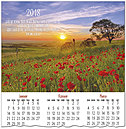 Sunset Blessings Calendar Card C7106U-AA