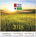 Sunset Field Logo Calendar Card D7125U-4A