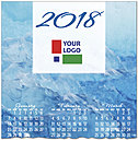 Blue Waters Logo Calendar Card D7127U-4A