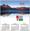 Mountain Lake Logo Calendar Card D7133U-4A
