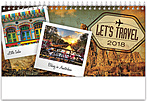 World Travels Desk Calendar WSDCAJ18