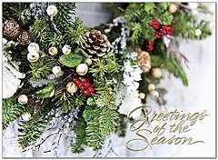 Seasonal Greenery Holiday Card H7138G-AAA