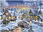 Glowing Village Holiday Card H7140G-AAA