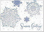 Sparkling Snowflakes Holiday Card H7145S-AAA