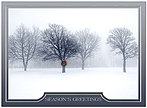 Winter Snow Holiday Card H7147S-AAA