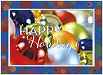 Colorful Ornaments Holiday Card H7152U-AA