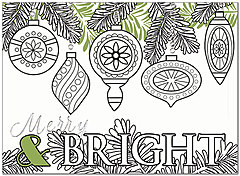 Merry & Bright Coloring Card H7155U-AA