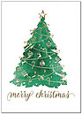 Watercolor Tree Christmas Card H7163D-AA