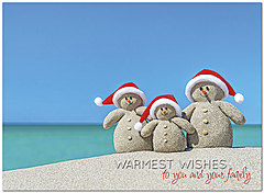 Tropical Snowmen Holiday Card H7169U-A