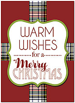 Plaid Christmas Card H7170U-A