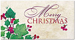 Christmas Ivy Holiday Card H7172T-B