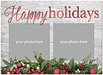 Holiday Garland Foil Photo Card D7197U-4A