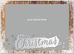 Christmas Border Foil Photo Card D7199U-4A