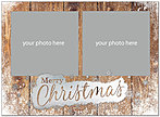 Snowy Christmas Foil Photo Card D7201U-4A