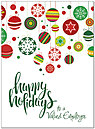 Employee Ornaments Holiday Card D7216U-A