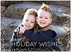 Horizontal Wishes Foil Photo Card D7191U-4A