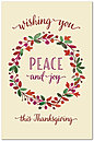 Thanksgiving Peace Postcard D7089P-BB