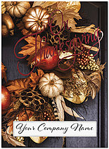 Autumn Wreath Die Cut Window Card H7067U-AAA