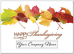 Thanksgiving Leaves Die Cut Window Card H7069U-AAA