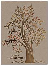 Thanksgiving Tree Card H7076G-4A