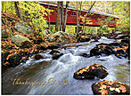 Covered Bridge Thanksgiving Card H7077U-AA
