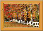 Fall Fence Line Thanksgiving Card H7079U-AA