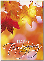 Autumn Morning Thanksgiving Card H7085U-A