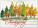 Painted Trees Thanksgiving Card H7086U-AA