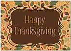 Simple Leaves Thanksgiving Card H7088KW-AA