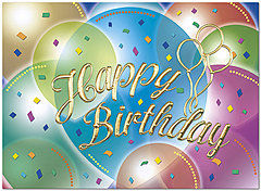 Classic Balloons Birthday Card A8001G-W