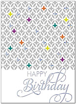 Shimmering Graphics Birthday Card A8005S-W