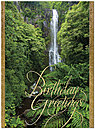 Hawaiian Waterfall Birthday Card A8006G-W