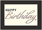 Birthday Border Greeting Card A8007U-X