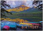 Scenic Canoes Birthday Card A8008U-X