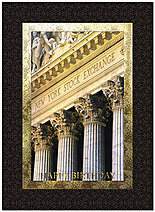 Wall Street Pillars Birthday Card A8020U-X