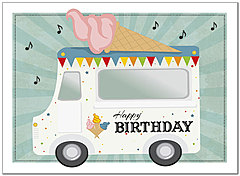 Ice Cream Truck Birthday Card A8022U-X
