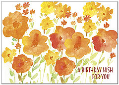 Painted Field Birthday Card A8024D-Y