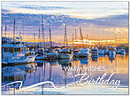 Marina Sunrise Birthday Card A8025U-Y