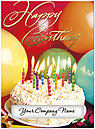 Birthday Party Die Cut Card A8030U-W