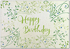 Birthday Wreath Card A8034KW-X