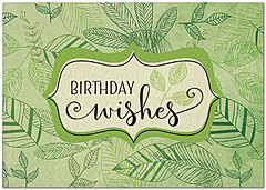 Sustainable Leaves Birthday Card A8035KW-X