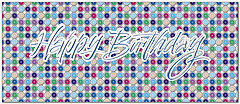 Graphic Dots Birthday Card A8036L-X