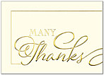 Many Thanks Greeting Card A8042D-X
