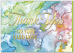 Watercolor Thank You Card A8045D-X