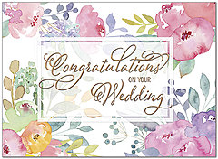Floral Wedding Congratulations Card A8057U-X