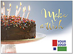 Make A Wish Logo Birthday Card D8031U-4W