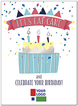 Let's Eat Cake Logo Birthday Card D8033U-4W