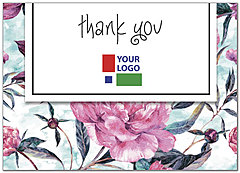 Floral Logo Thank You Card D8047D-V